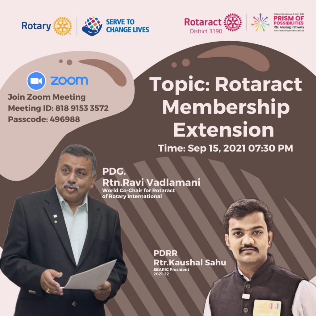 Rotaract Membership Extension
