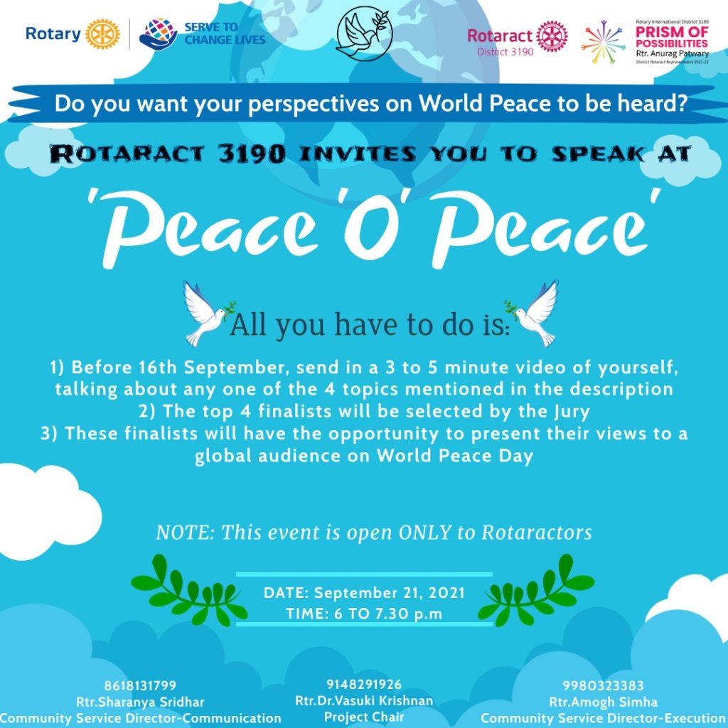 Peace o Peace