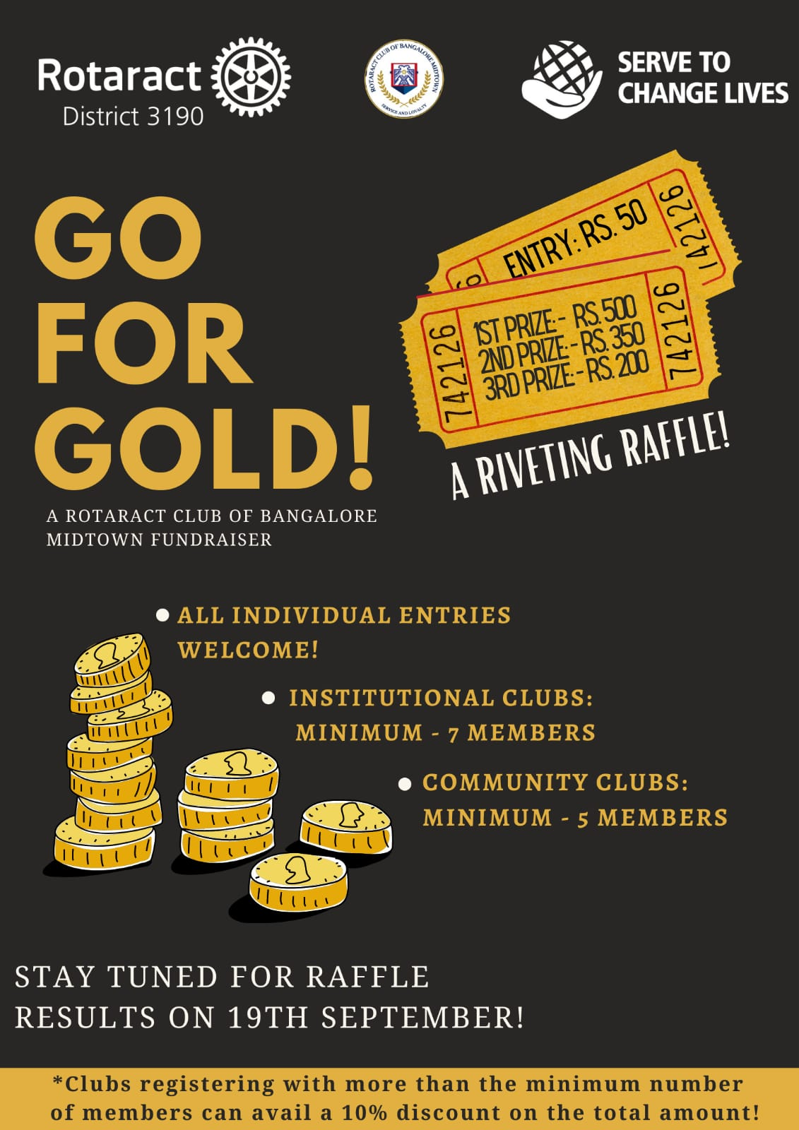 Rotaract club fundraiser project go for gold by Rotaract Club of Bangalore Midtown